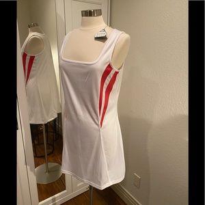 BOLLE TECH WHITE & ORANGE TENNIS DRESS
